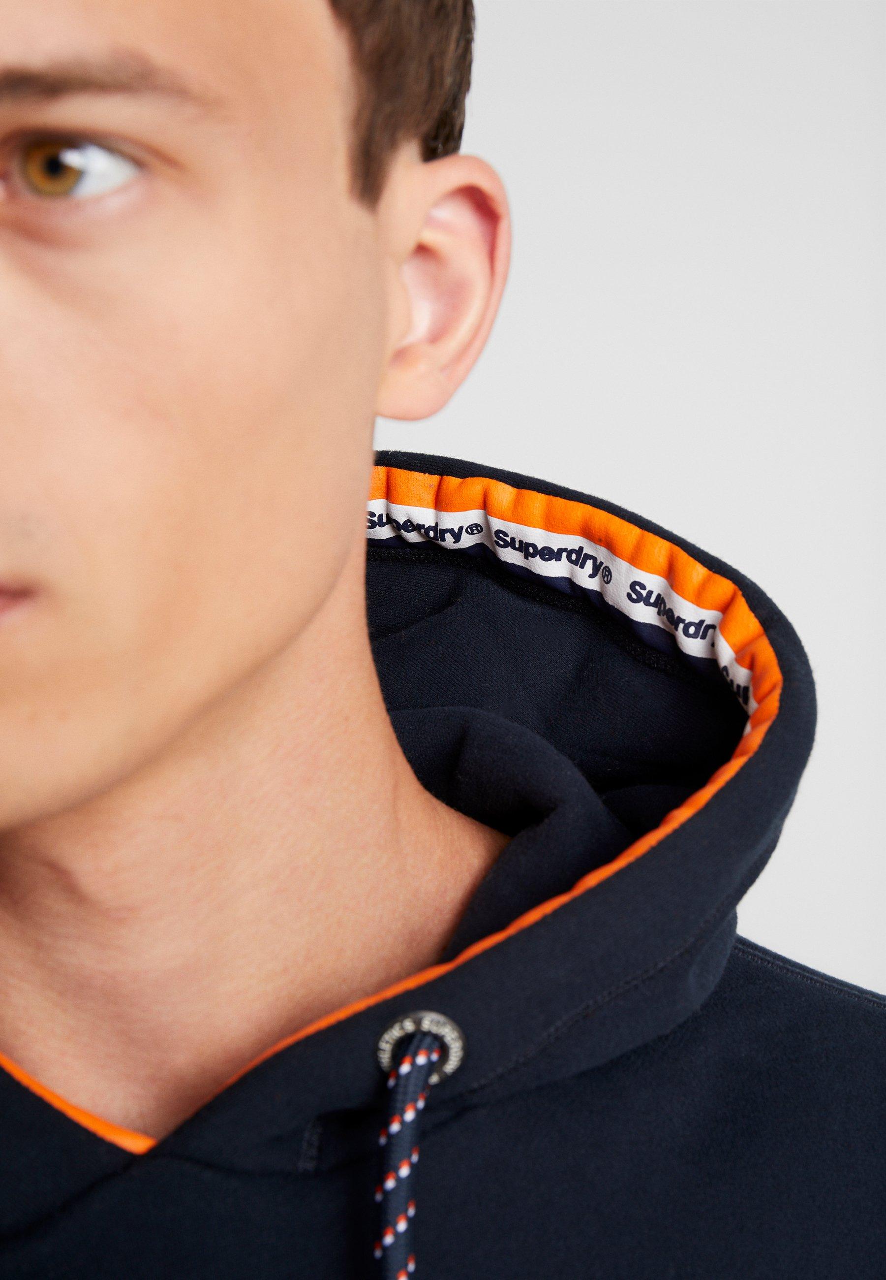 Superdry VINTAGE LOGO RACER HOOD - Bluza z kapturem - eclipse navy