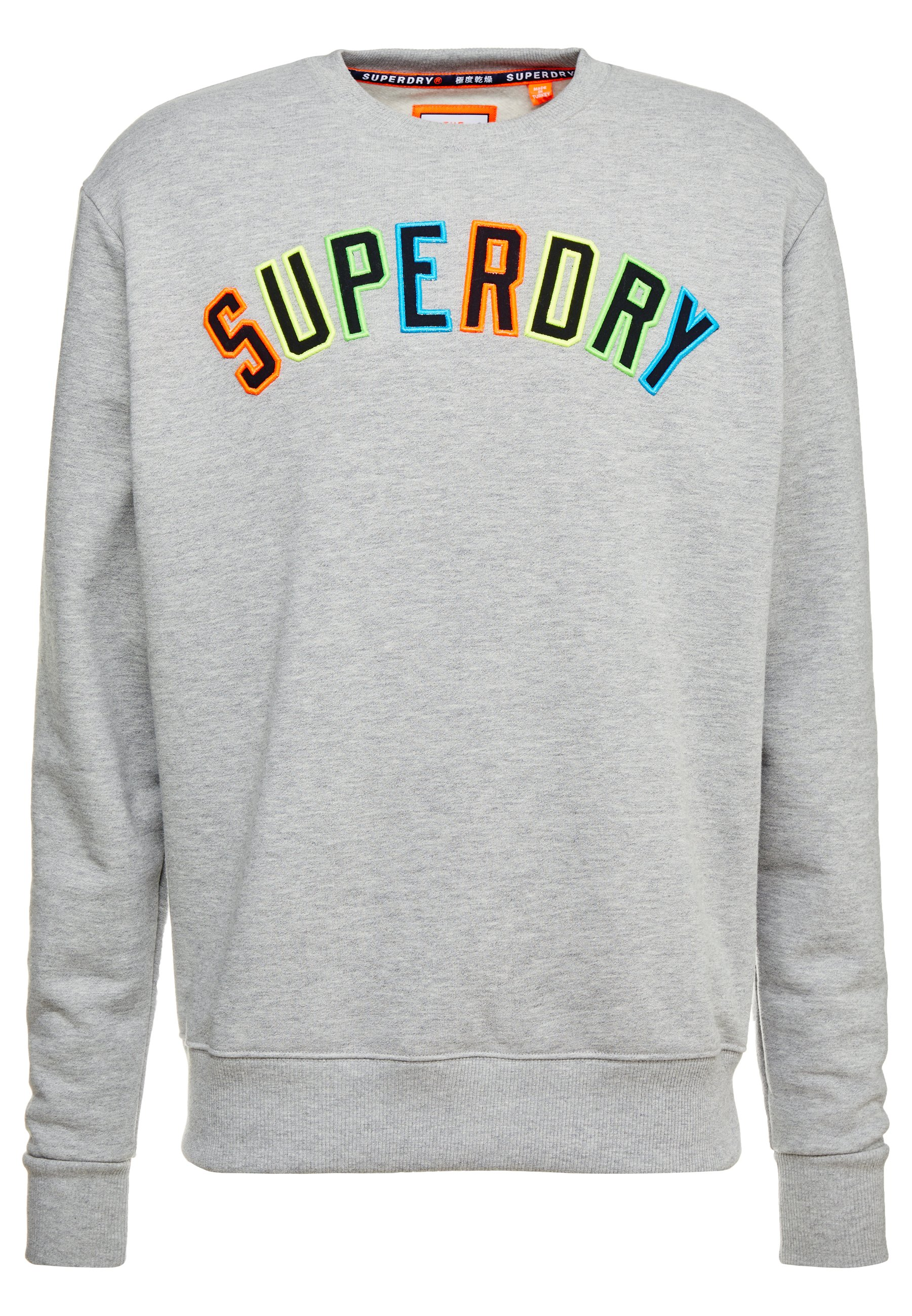 Superdry New House Rules Applique Crew - Sweatshirt Varsity Silver Grit Black Friday