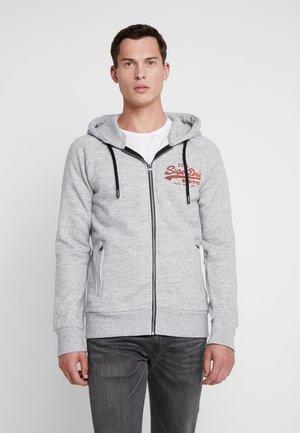 VINTAGE LOGO MONOCHROME ZIPHOOD - veste en sweat zippée - chrome grey grit