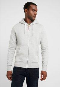 Superdry - ZIP HOOD - veste en sweat zippée - grey marl - 0