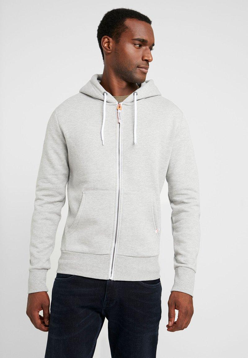 Superdry - ZIP HOOD - veste en sweat zippée - grey marl
