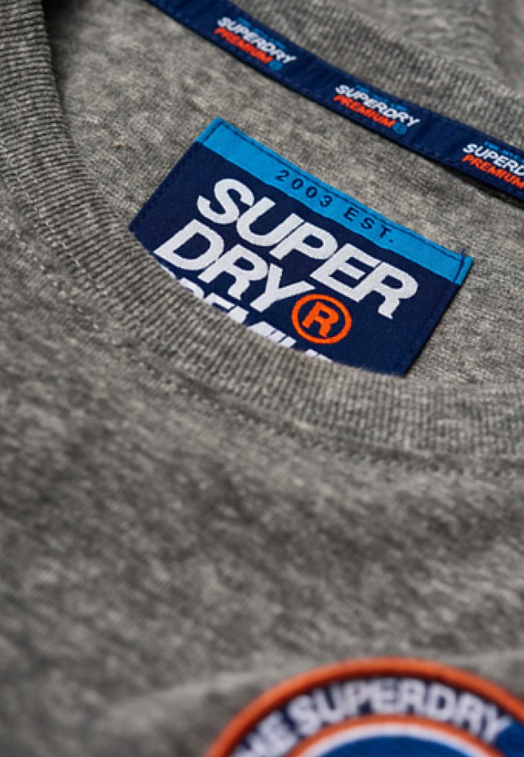 Superdry Manches Phoenix Longues PaitaT shirt À Grey Slub MUSzLVpqG
