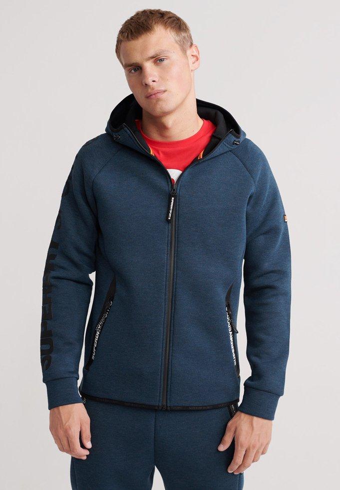Superdry - CORE GYM TECH - Zip-up hoodie - deep teal