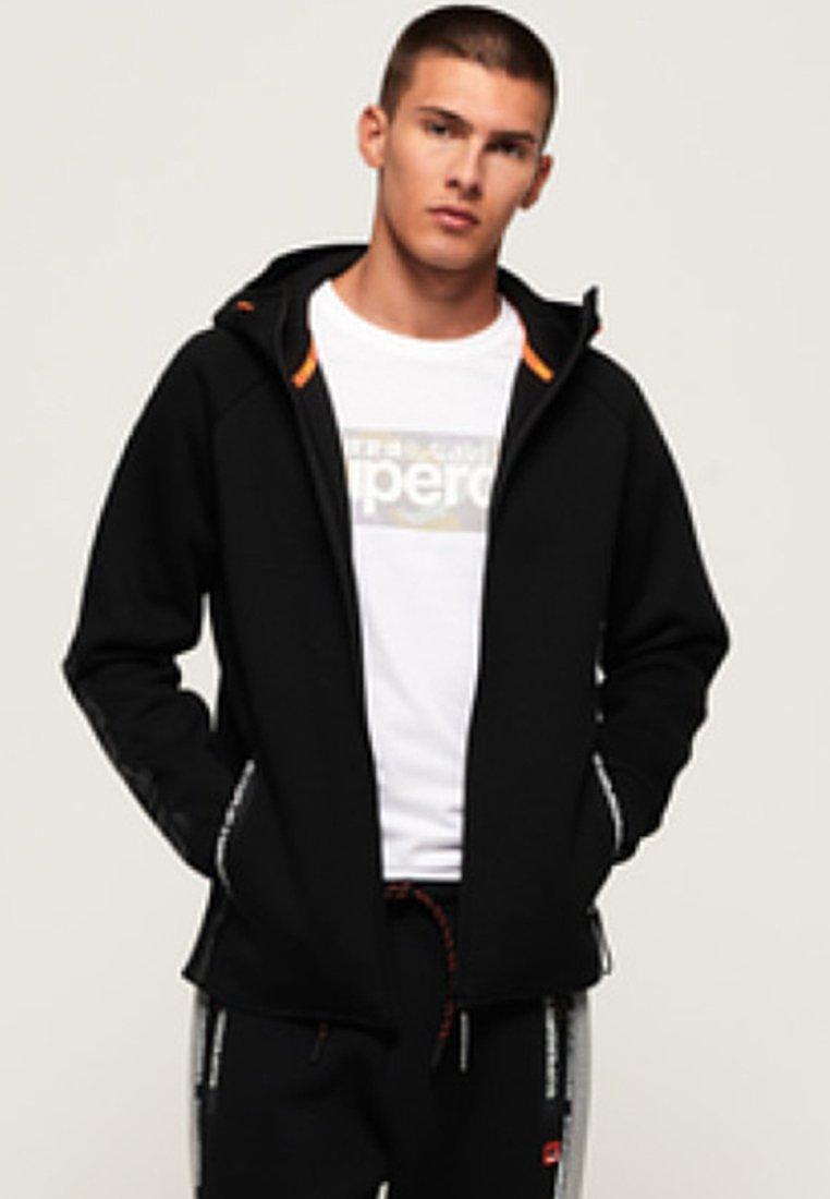 Superdry CORE GYM TECH veste en sweat zippée black