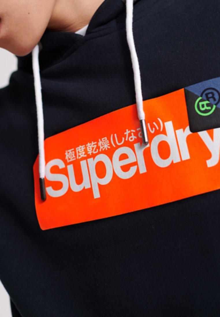 Superdry Felpa con cappuccio - blue