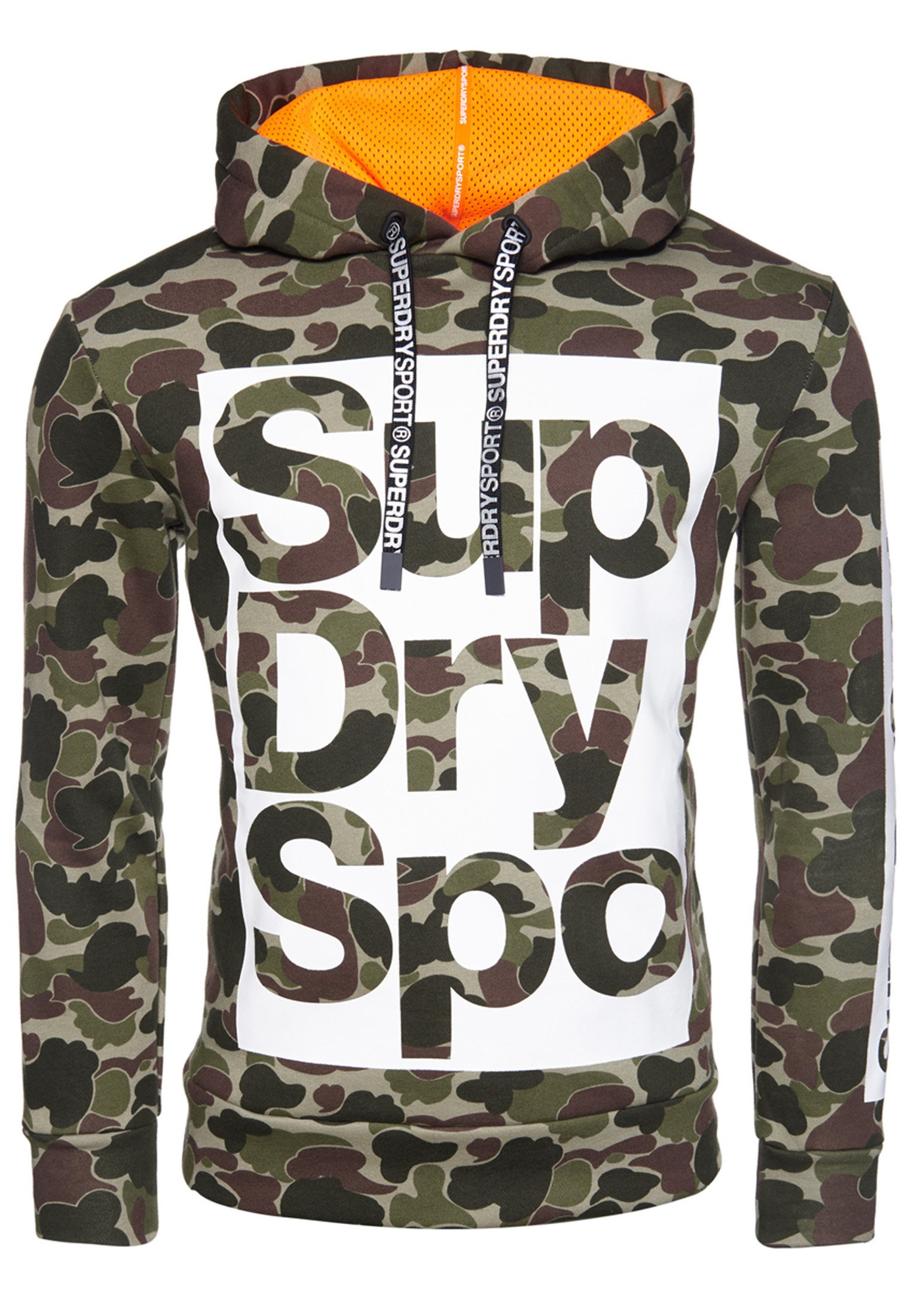 Superdry Sweatshirt - Camouflage Pattern/ Bright Orange
