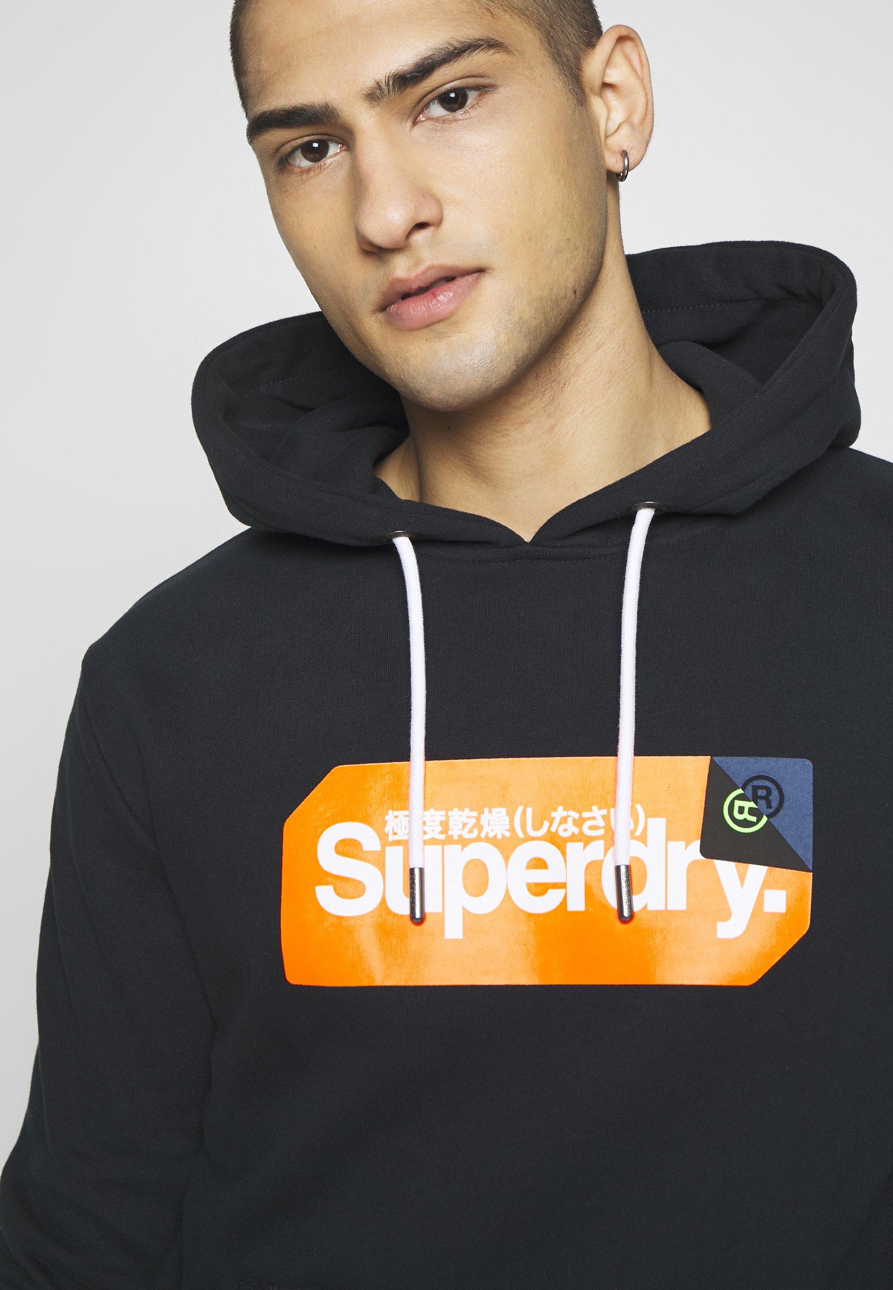 Superdry Core Logo Tag Hood - Sweat À Capuche Eclipse Navy