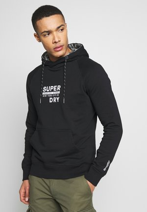 SURPLUS GOODS NEW GRAPHIC HOOD - Hoodie - jet black