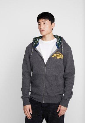 Zip-up hoodie - graphite dark marl
