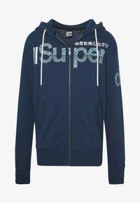 Superdry - CORE SPLIT LOGO ZIP HOOD - Zip-up hoodie - pilot mid blue - 4