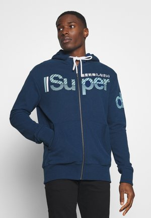 CORE SPLIT LOGO ZIP HOOD - veste en sweat zippée - pilot mid blue