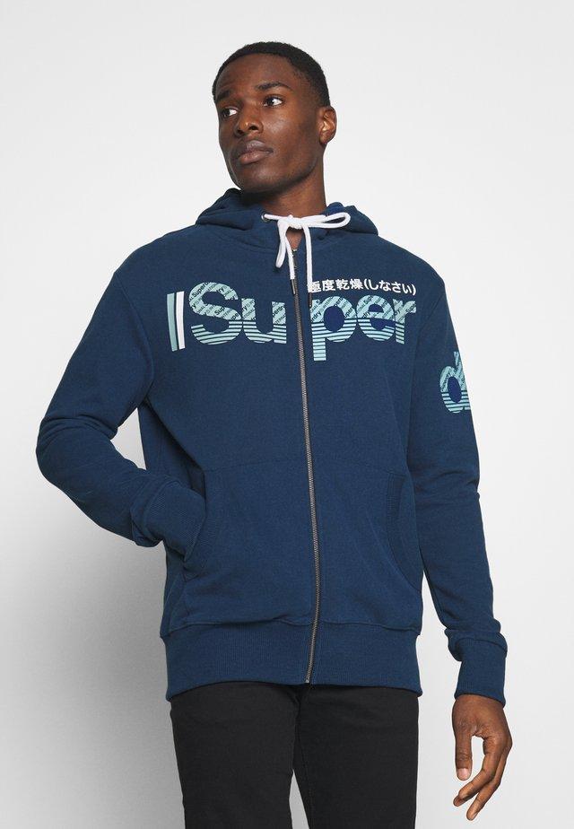 CORE SPLIT LOGO ZIP HOOD - Zip-up hoodie - pilot mid blue