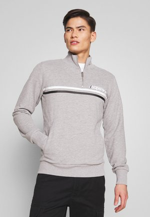SPORT STRIPE HALF ZIP TRACK - Sweatshirt - grey marl