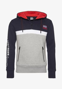Superdry - Jersey con capucha - blue/grey - 4