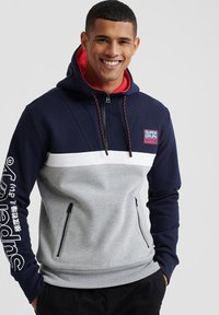 Superdry - Jersey con capucha - blue/grey - 0