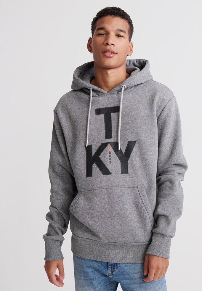 Superdry Bluza z kapturem - light grey
