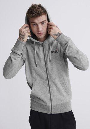 ORANGE LABEL - Zip-up hoodie - light grey