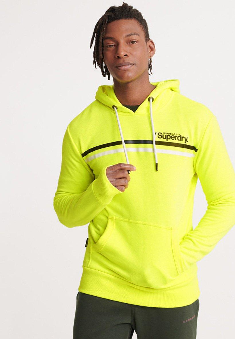 Superdry Bluza z kapturem - neon yellow