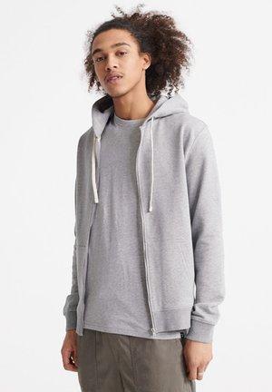 STANDARD LABEL - Zip-up hoodie - stone grey marl
