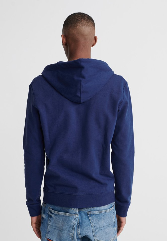 Superdry Standard Label - Veste En Sweat Zippée Pilot Mid Blue