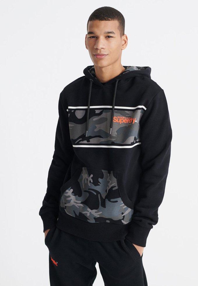 Superdry Bluza z kapturem - black