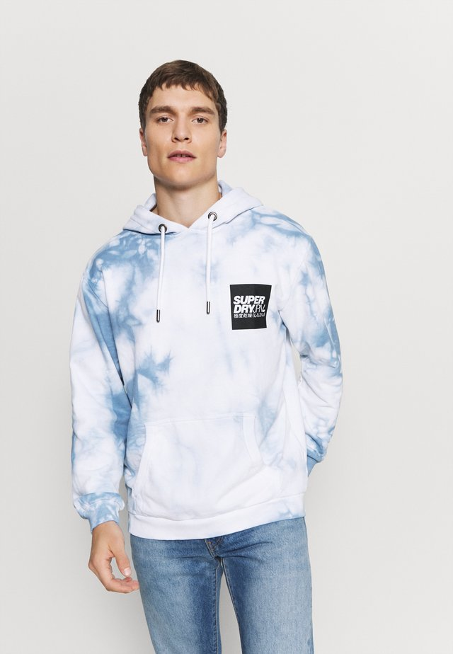 TIE DYE HOOD - Jersey con capucha - china blue