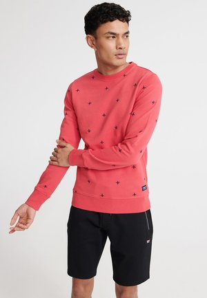 SUPERDRY ALL OVER EMBROIDERY CREW SWEATSHIRT - Bluza - maldive pink