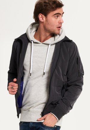 MOODY NIGHT FLIGHT LITE  - Kurtka Bomber - dark grey