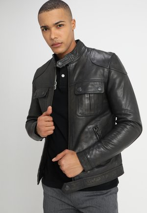 ENDURANCE MOTO X  - Veste en cuir - black rub off
