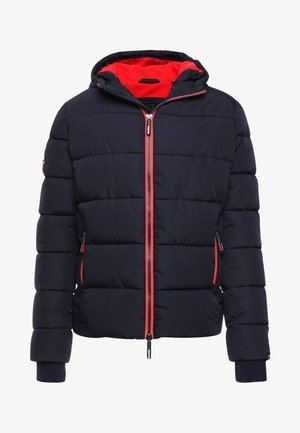 SPORTS PUFFER - Kurtka zimowa - navy/bright red