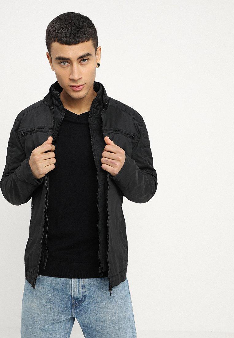 Superdry - CARBON BIKER - Light jacket - black