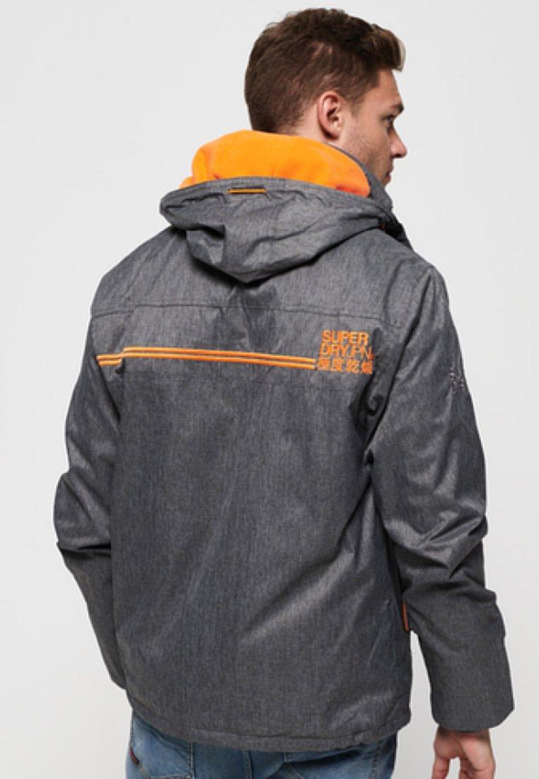 Superdry Hooded Arctic Pop Zip - Leichte Jacke Grey/orange