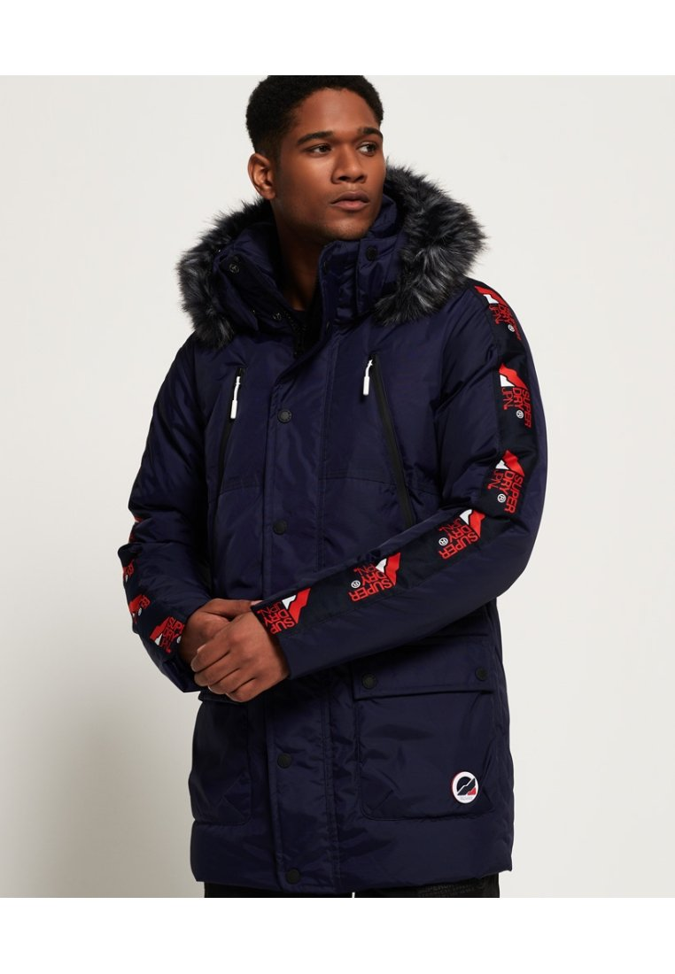 Superdry - Down coat - navy blue