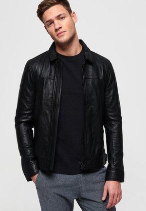CURTIS - Leather jacket - black