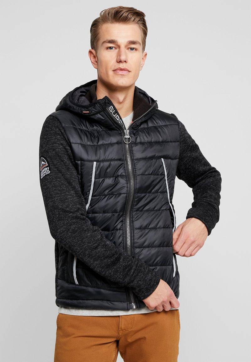 Superdry - STORM FLASH HYBRID - Summer jacket - black heather