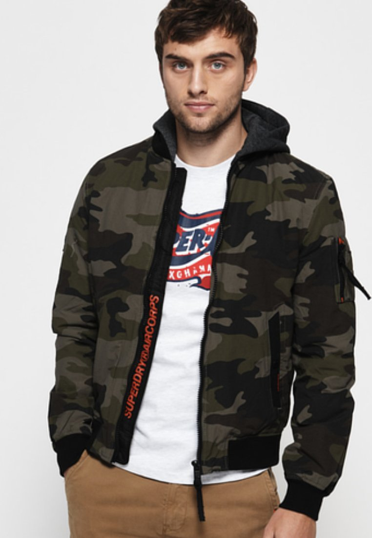 Superdry - Giubbotto Bomber - green/brown
