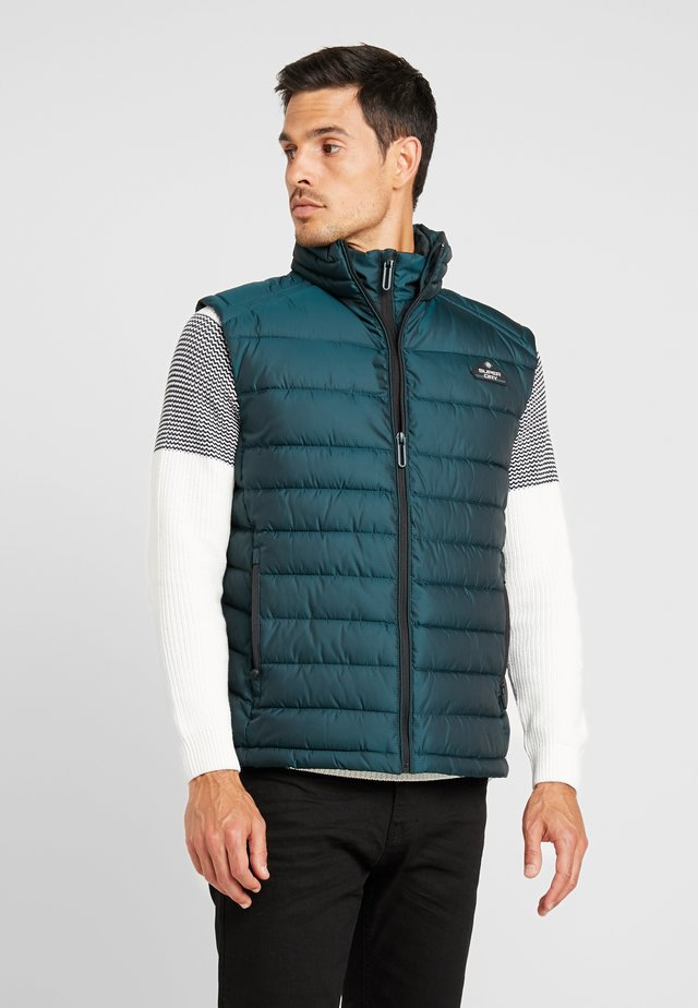 DOUBLE ZIP FUJI GILET - Bodywarmer - country green