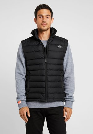 DOUBLE ZIP FUJI GILET - Liivi - jet black