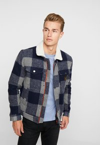 Superdry - HACIENDA CHECK JACKET - Allvädersjacka - navy check - 0