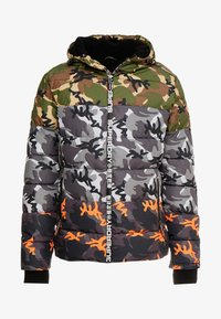 Superdry - CAMO MIX SPORTS PUFFER - Vinterjacka - black camo - 4