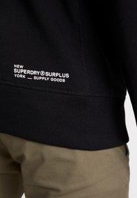 Superdry - SURPLUS GOODS POP OVER HOOD - Huppari - jet black - 3