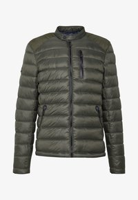 Superdry - COMMUTER QUILTED BIKER - Lehká bunda - army khaki - 4