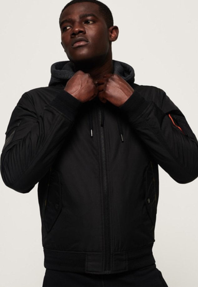Superdry - ROOKIE FLIGHT - Winterjacke - black