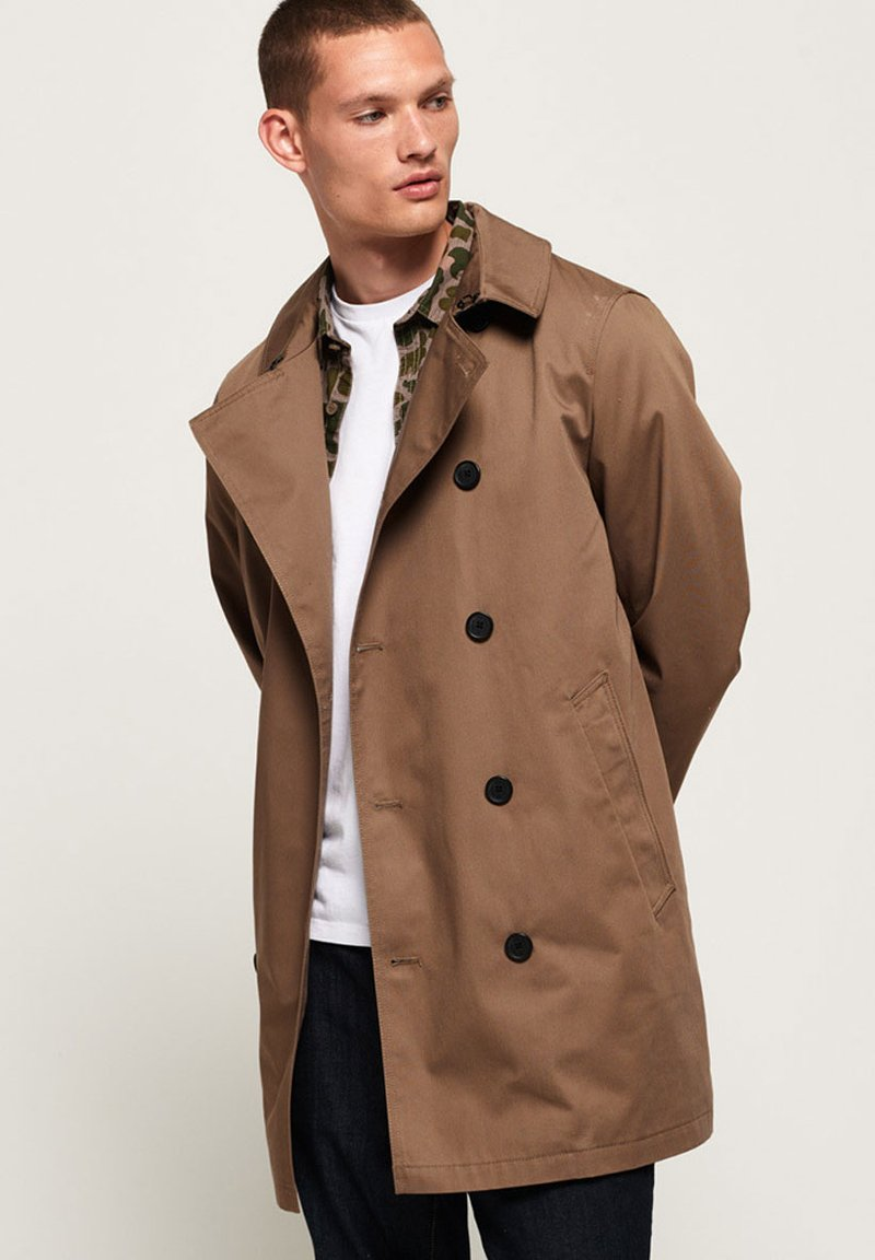 Superdry - DOUBLE-LINE-JACKE - Trenchcoat - brown