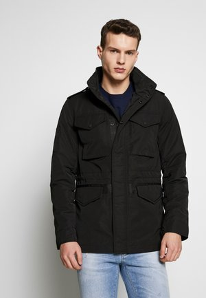 EDIT COLLARED UTILITY FOUR POCKET - Summer jacket - black