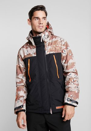 HOODED CAMO WINDATTACKER - Välikausitakki - black