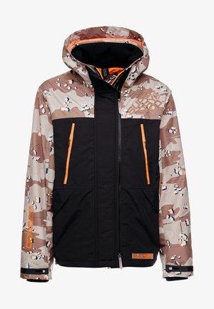HOODED CAMO WINDATTACKER - Light jacket - black