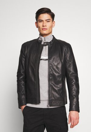 HERO LIGHT RACER - Leather jacket - black