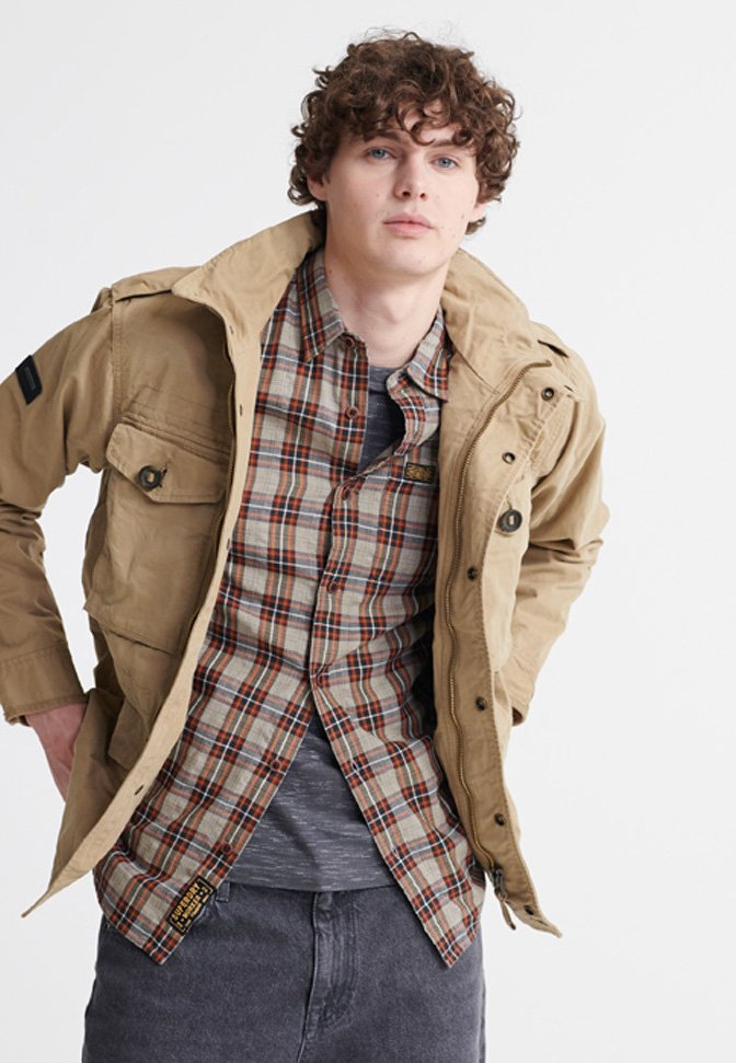 Superdry - FIELD - Summer jacket - dress beige