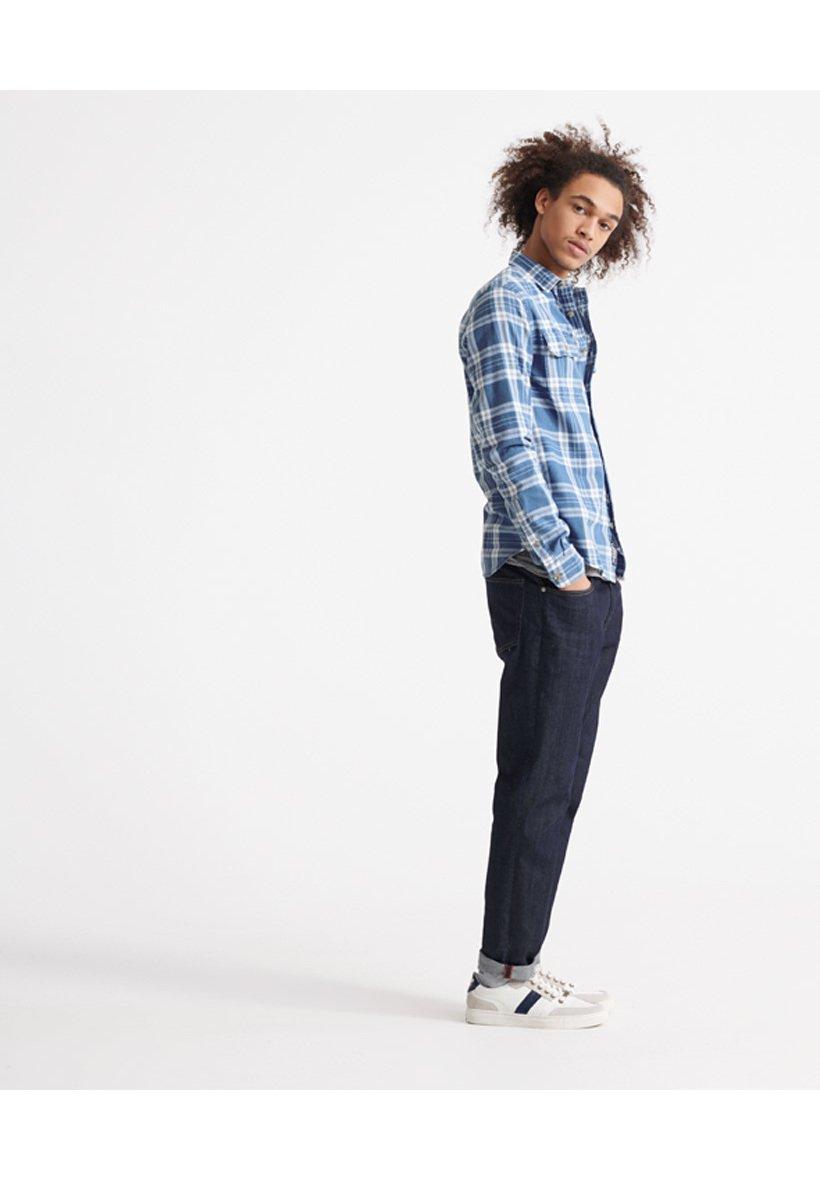 Superdry MERCHANT MILLED LITE - Camisa - blue check